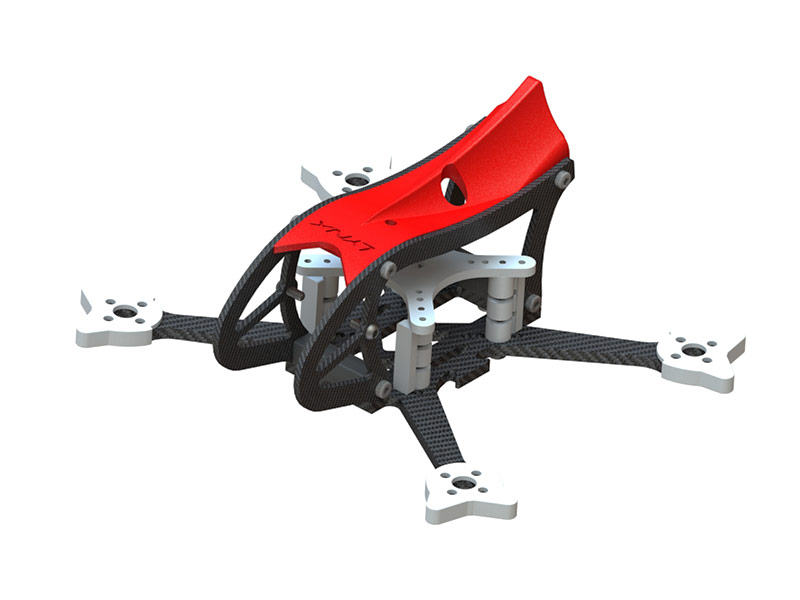 LX2598-7 - MAKO 2 FPV Racer Frame, Red Color