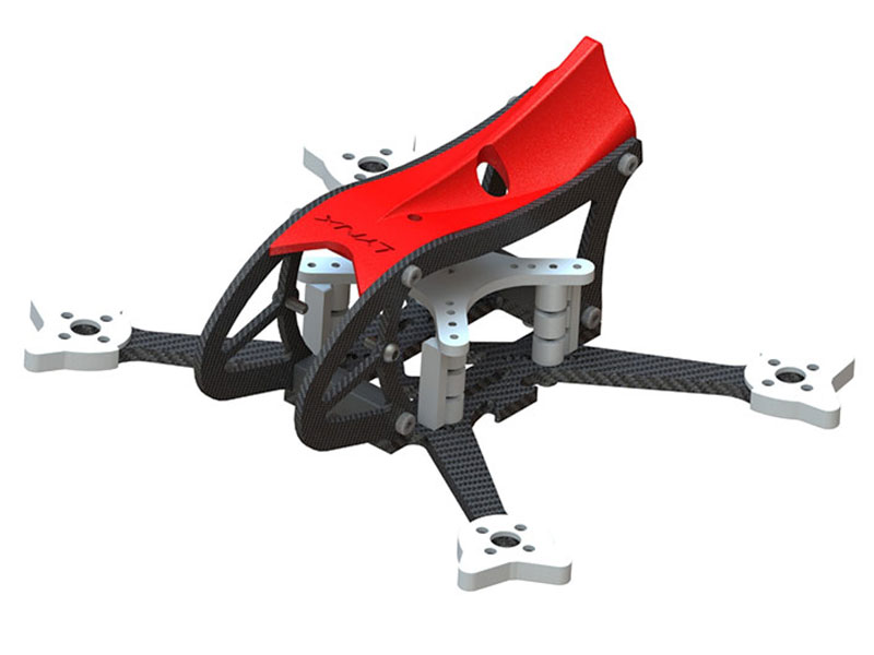 LX2598-7 - GosH 2 FPV Racer Frame, Red Color