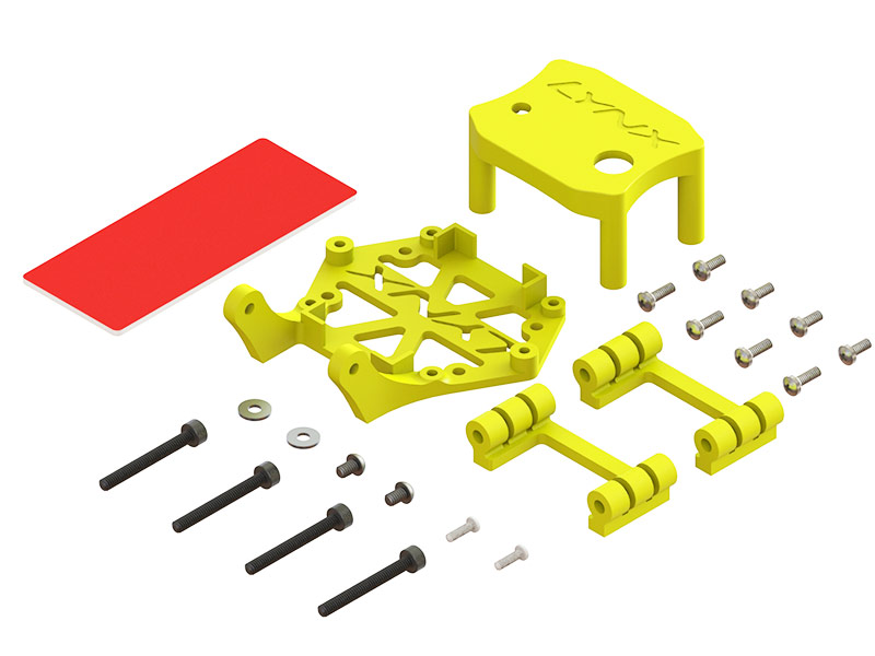 LX2606-4 - Torrent 110 - Soft Mount Support Set - STD FC - Micro Swift Camera, Yellow Color