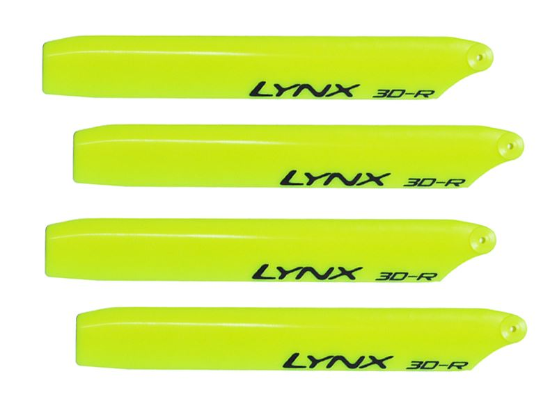 LXT1204-3D - Plastic Main Blade 120mm - T-Rex150 - Pro Edition - Yellow - 2 Set