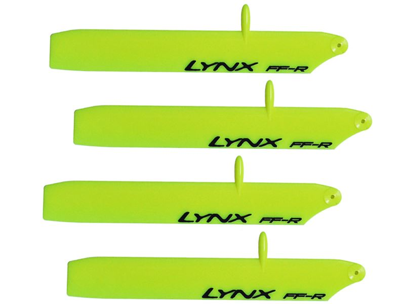 LXT1204-SP - Plastic Main Blade 120mm - Bullet - T-Rex150 - Pro Edition - Yellow - 2 Set