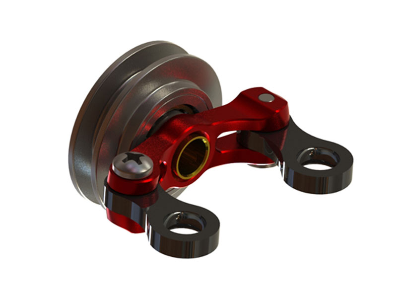 SP-OXY2-039 - OXY2 CNC Tail Pitch Slider, red