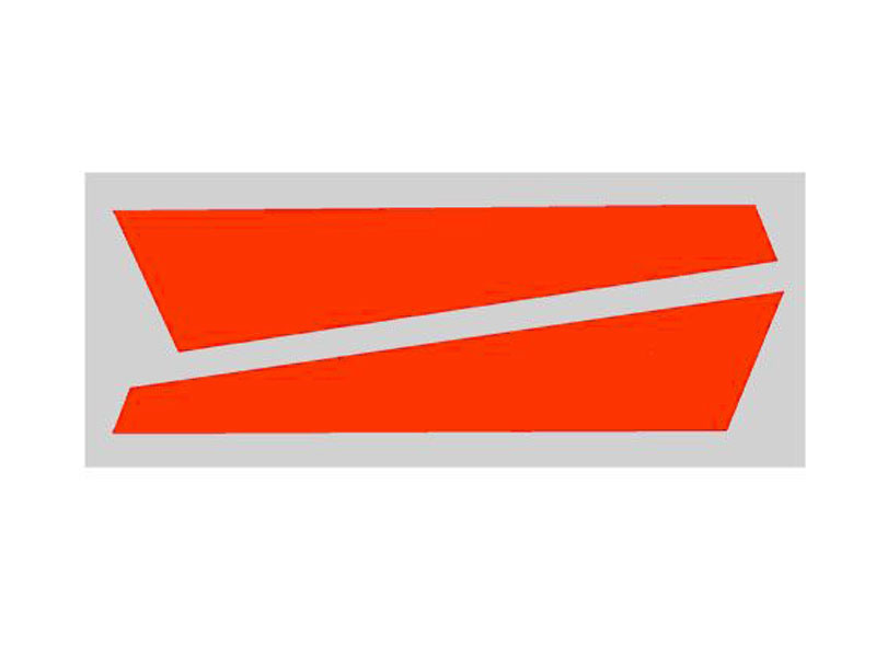 SP-OXY2-060 - OXY2 - Vertical Fin Sticker Orange