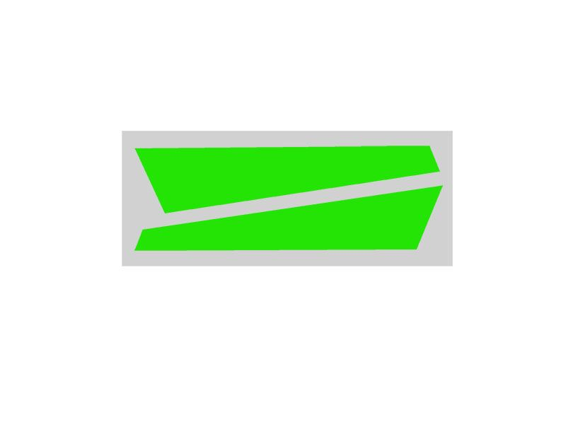 SP-OXY2-062 - OXY2 - Vertical Fin Sticker Green