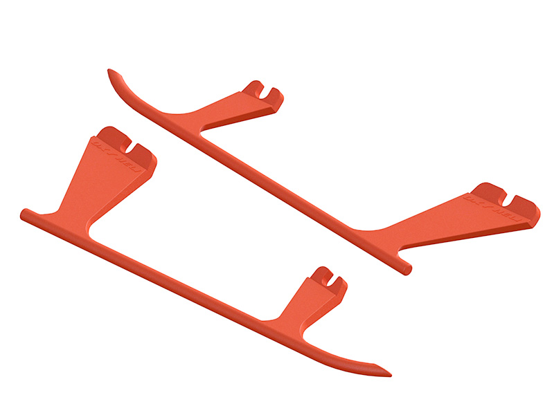 SP-OXY2-072 - OXY2 - Plastic Landing Gear Skid, Left / Right - Orange