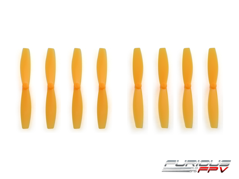 FPV-0088-S FuriousFPV High Performance 66mm Plastic Propellers (Orange, 4CW & 4CCW)